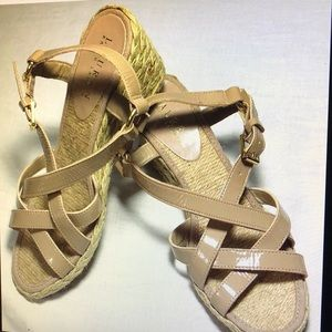Ralph Lauren Tan Wedge Sandal Espadrille women 6.5